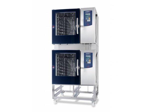 Leventi Combisteamer Leventi ME 1.06 BDI | Gas 13kW | 4x/5x/7x EN 400x600 of GN 1/1 | 899x831x827(h)mm