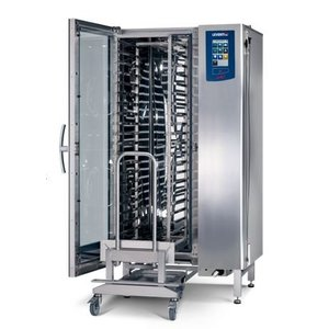 Leventi Combisteamer ME 1:20 FDI Pet   Gas 42kW   20x / 15x AND 40x60 or GN1 / 1   Incl. Frame and Trolley   899x831x1852 (h) mm