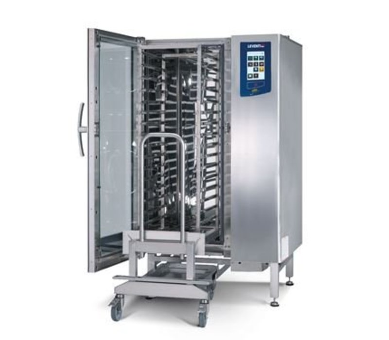 Leventi Bake-off oven Leventi YOU 15 Pet   AND 15x 40x60   Gas 18kW   Incl. Frame and Trolley   899x831x1855 (h) mm