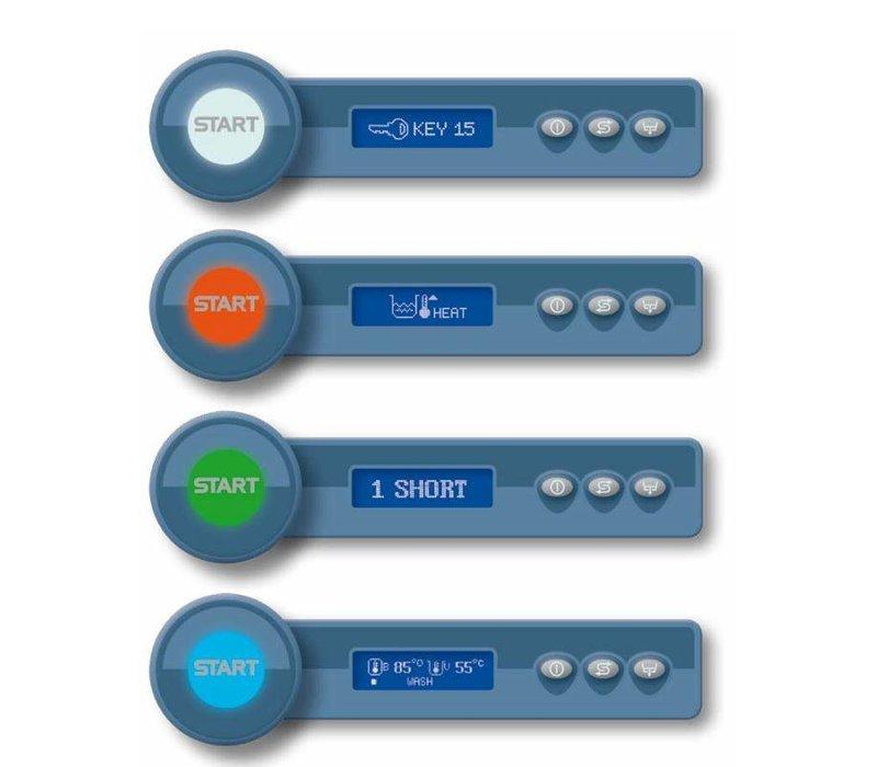 Rhima Glasswasher 50x50cm | RHIMA Optima Plus 500S | Incl. softener | 600x610x825mm