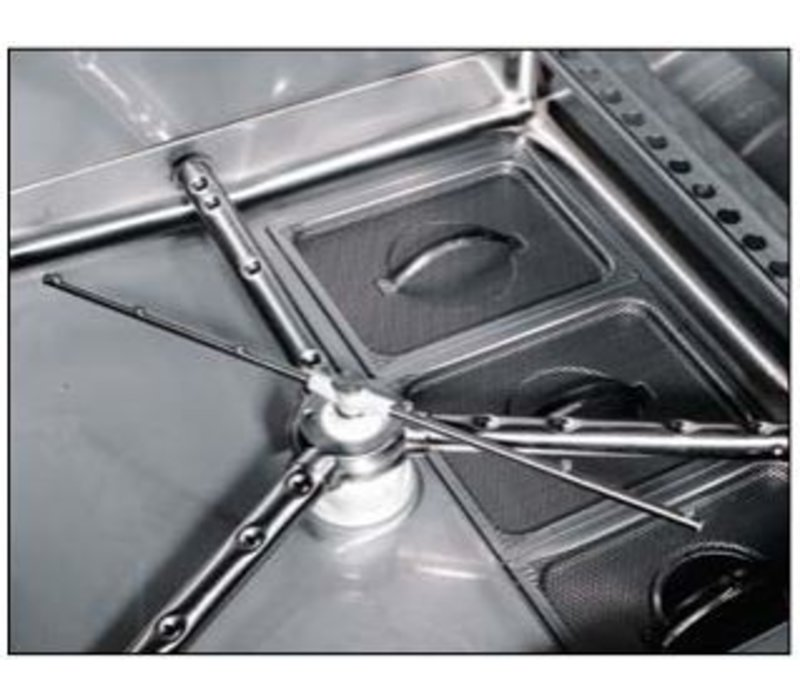 Rhima Pot-Washing | RHIMA DR 265E HR Plus | 700x700mm stainless steel basket