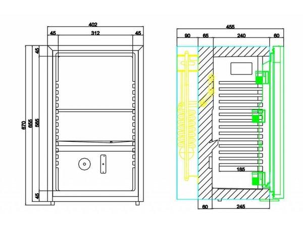 Diamond Bar Kühlschrank / Minibar im Hotel - 50 Liter - 40x45x (h) 69cm - SILENT MODELL