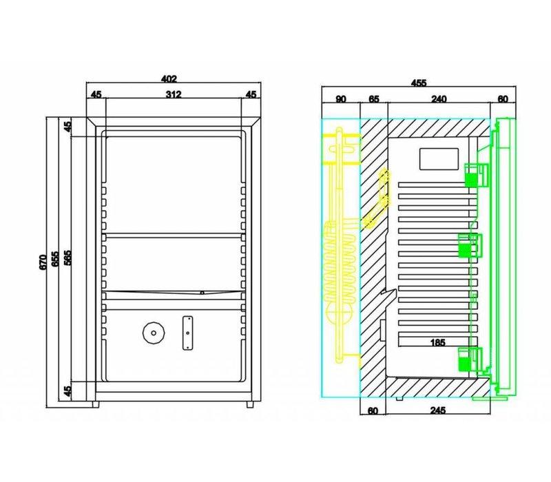 Diamond Barkoelkast / Minibar voor Hotel - 50 Liter - 40x45x(h)69cm - STIL MODEL