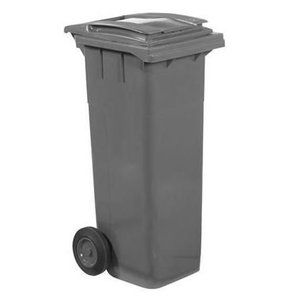 XXLselect Waste container Wheels- 140 Liter Gray