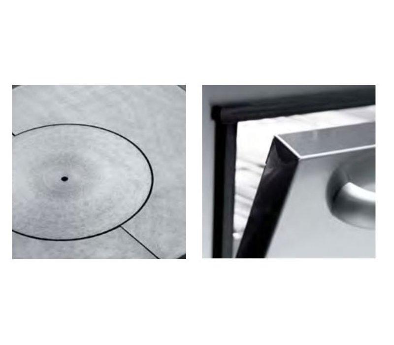 Diamond Doorkook plaat - 4 zones - 70x70x(h)85/92cm