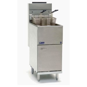 Pitco Fryer Gas Milivolt | Pitco Economy 35CS (Natural Gas) | 23KW | Oil 18Kg | 45kg / h | 384x769x864 (h) mm