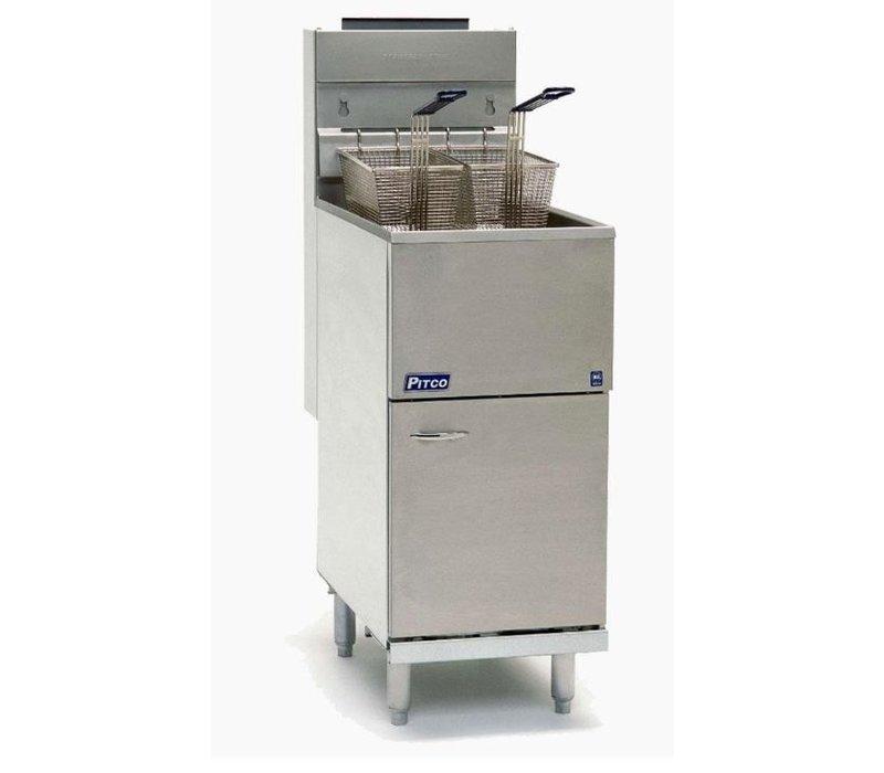 Pitco Fryer Gas Milivolt | Pitco Economy 35CS (Natural Gas) | 23KW | Oil 18Kg | 45kg / h | 384x769x864 (h) mm