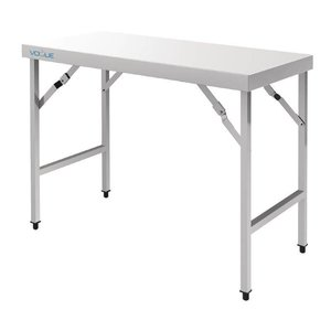 XXLselect Stainless Steel Folding Workbench | 28 kg | 1800 (b) x600 (d) X900 (H) mm