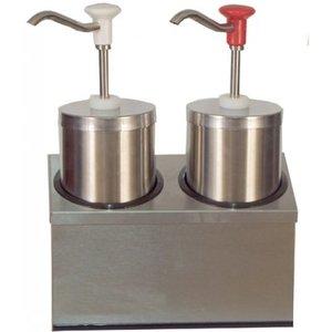 Saro Saus Dispenser - RVS - 2 x 2,25 Liter - Pro
