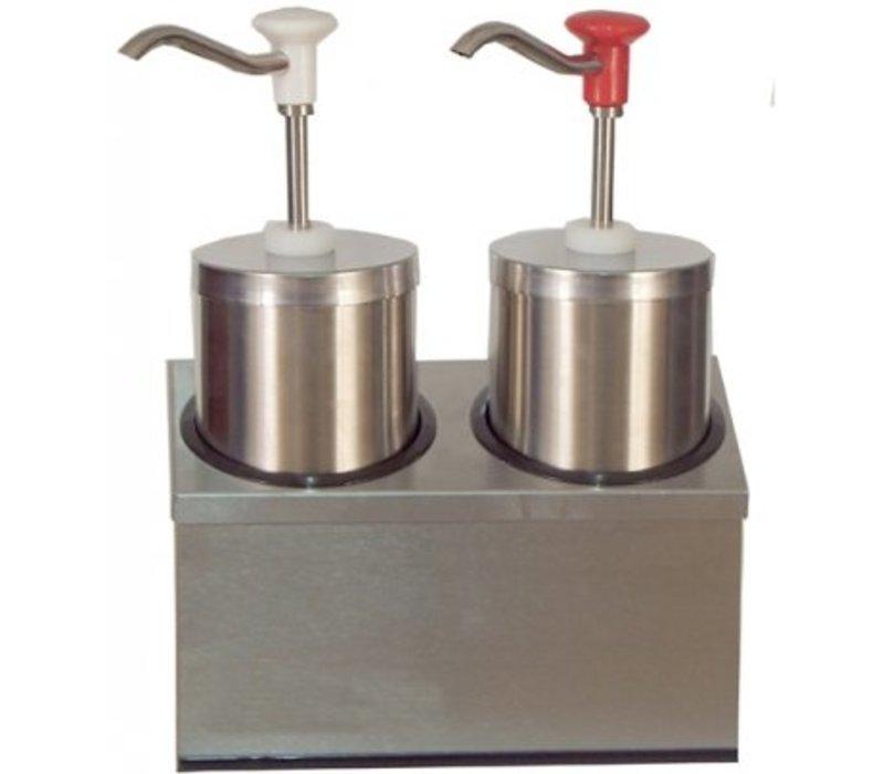 Saro Soßenspender - Edelstahl - 2 x 2,25 Liter - Pro