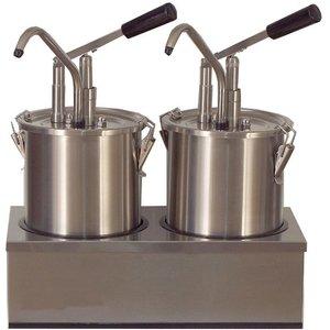 Saro Saus Dispenser - RVS - 2 x 4,5 Liter - Pro