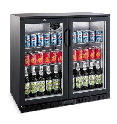 Saro Bar Kühlschrank Doppelglastüren | 208 Liter | 900x520x850 (h) mm