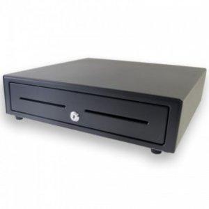 XXLselect Kassenschublade vorderen Touch Schwarz   USB-410   8 Coin / 4 Ticket   Afroomgleuf   410x415x110 (h) mm
