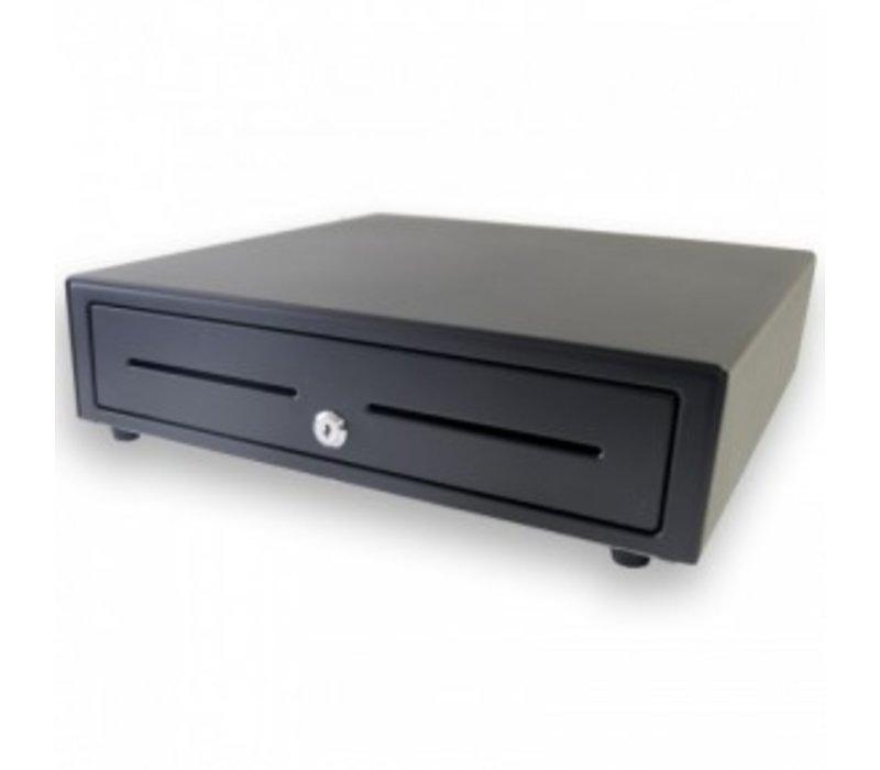 XXLselect Kassenschublade vorderen Touch Schwarz | USB-410 | 8 Coin / 4 Ticket | Afroomgleuf | 410x415x110 (h) mm