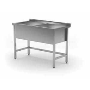XXLselect Edelstahl-Wannen-XXL 2 Sinks 300 (h) mm | HEAVY DUTY | 1200 (b) x600 (d) mm | Auswahl von 5 WIDTHS