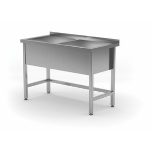 XXLselect Stainless Steel Sink XXL +2 Sinks 300 (h) mm | HEAVY DUTY | 1200 (b) x600 (d) mm | CHOICE OF 5 WIDTHS