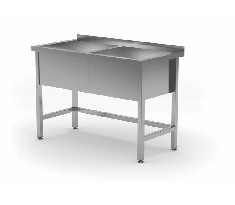XXLselect Stainless Steel Sink XXL +2 Sinks 300 (h) mm | HEAVY DUTY | 1200 (b) x600 (d) mm | CHOICE OF 5 WIDTHS