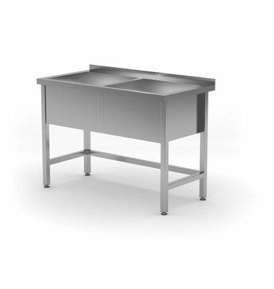 XXLselect Stainless Steel Sink XL + 2 Sinks 300 (h) mm | HEAVY DUTY | 1200 (b) x700 (d) mm | CHOICE OF 5 WIDTHS