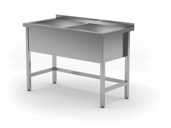 XXLselect Edelstahl-Wannen-XL + 2 Sinks 300 (h) mm | HEAVY DUTY | 1200 (b) x700 (d) mm | Auswahl von 5 WIDTHS