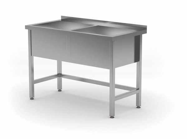 XXLselect Stainless Steel Sink XL + 2 Sinks 300 (h) mm | HEAVY DUTY | 1200 (b) x700 (d) mm | CHOICE OF 5 WIDTHS