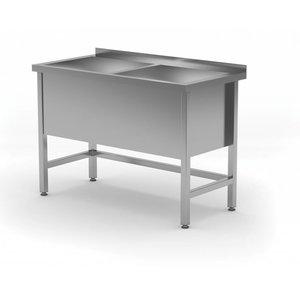XXLselect Edelstahl-Wannen-XXL + 2 Sinks 400 (h) mm   HEAVY DUTY   1200 (b) x600 (d) mm   Auswahl von 5 WIDTHS