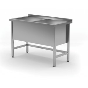 XXLselect Stainless Steel Sink XXL + 2 Sinks 400 (h) mm | HEAVY DUTY | 1200 (b) x600 (d) mm | CHOICE OF 5 WIDTHS