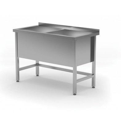 XXLselect Edelstahl-Wannen-XXL + 2 Sinks 400 (h) mm | HEAVY DUTY | 1200 (b) x700 (d) mm | Auswahl von 5 WIDTHS