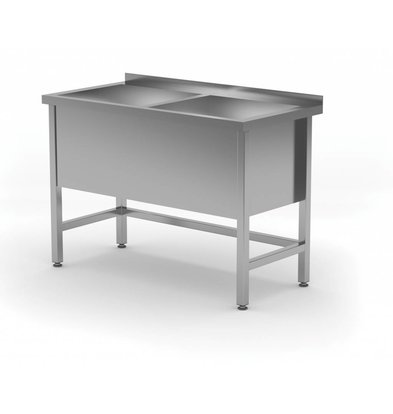XXLselect Stainless Steel Sink XXL + 2 Sinks 400 (h) mm   HEAVY DUTY   1200 (b) x700 (d) mm   CHOICE OF 5 WIDTHS