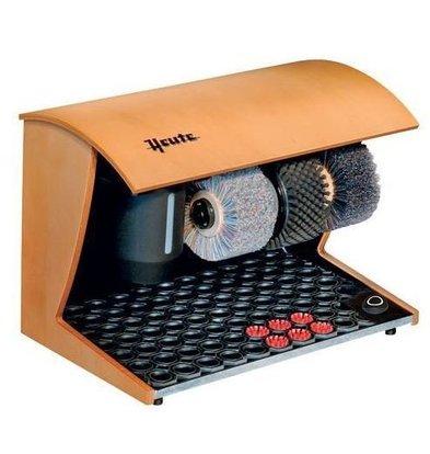 Heute Shoeshine Maschine Eleganz Natur | 3 Bürsten | Holz - Erhältlich in 7 Farben | 500 (L) x300 (d) x360 (H) mm