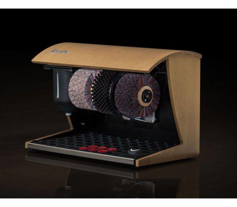 Heute Schoenpoetsmachine Elégance Nature | 3 Borstels | Hout - Beschikbaar in 7 Kleuren | 500(l)x300(d)x360(h)mm