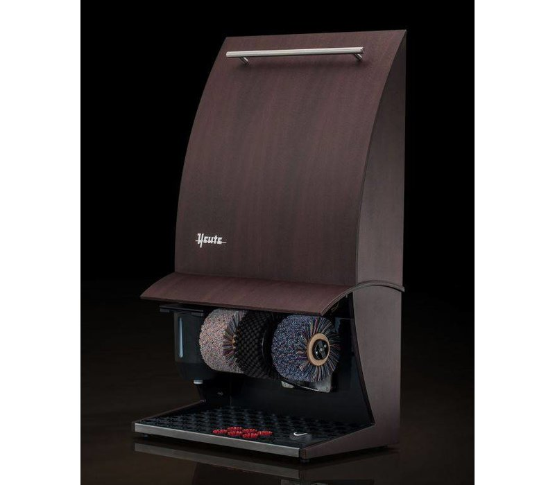 Heute Shoeshine machine Elegance Nature Plus | 3 Brushes | Wood - Available in 6 Colors | 500 (L) x300 (d) X860 (H) mm