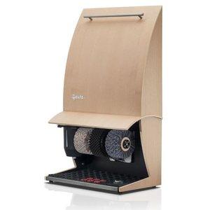 Heute Shoeshine Maschine Elegance Nature Plus | 3 Bürsten | Holz - Erhältlich in 6 Farben | 500 (L) x300 (d) X860 (H) mm