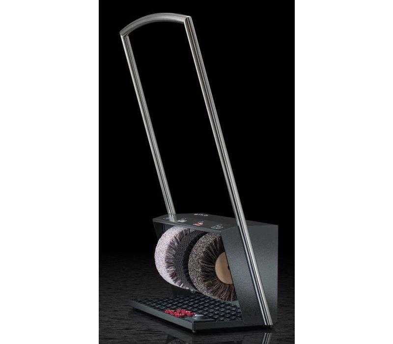Heute Shoe shine machine Polifix 2 Plus   3 Brushes   Steel - Available in 5 Colors   560 (L) x320 (d) X1020 (H) mm