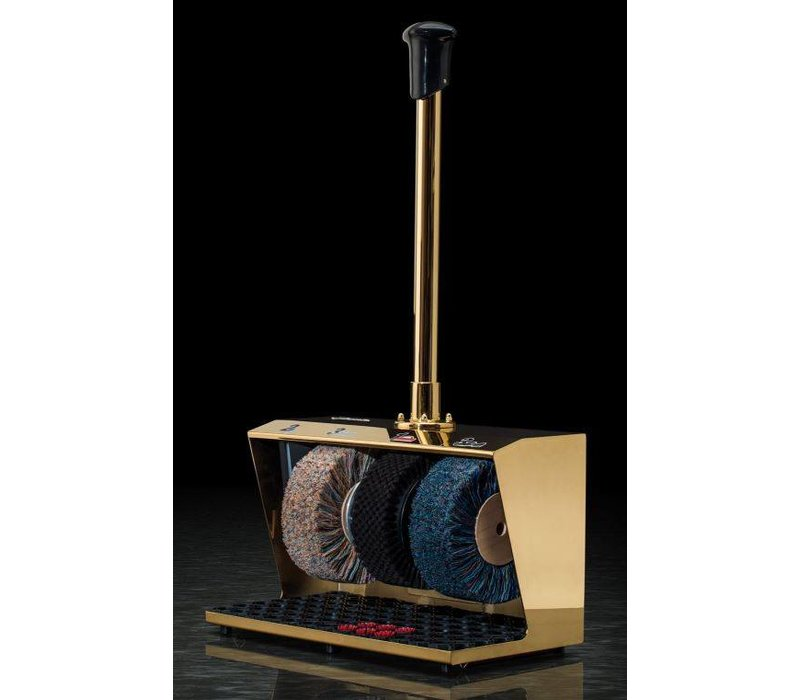 Heute Shoe shine machine Polifix 2 | 3 Brushes | Steel - Available in 5 Colors | 560 (L) X310 (d) x940 (H) mm