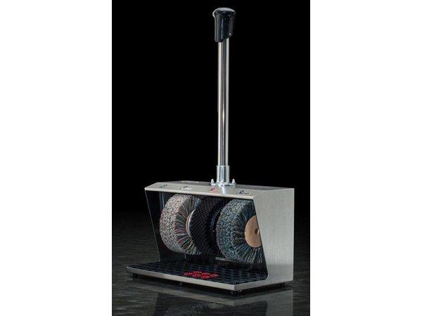 Heute Schoenpoetsmachine Polifix 2 | 3 Borstels | Staal - Beschikbaar in 5 Kleuren | 560(l)x310(d)x940(h)mm