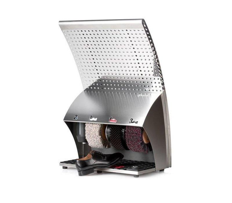 Heute Shoe shine machine Polis Wing | SS | 3 Brushes | 400 (L) x570 (d) X910 (H) mm