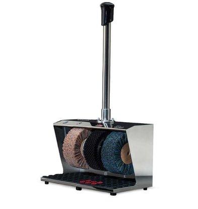 Heute Schuhputzmaschine Polifix 2 | 3 Bürsten | Steel - in 5 Farben erhältlich | 560 (L) X310 (d) X940 (H) mm