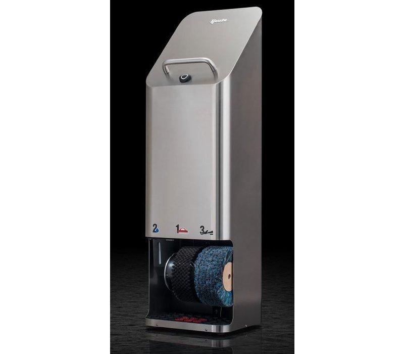 Heute Schoenpoetsmachine Quadro Plus   RVS   2 Borstels   380(l)x340(d)x1270(h)mm