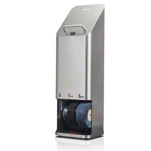 Heute Schoenpoetsmachine Quadro Plus | RVS | 2 Borstels | 380(l)x340(d)x1270(h)mm