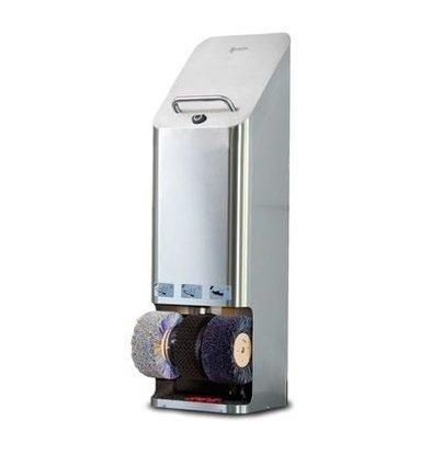 Heute Schoenpoetsmachine Quadro | RVS | 3 Borstels | 380(l)x340(d)x1270(h)mm