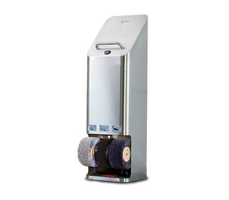 Heute Shoe shine machine Quadro | SS | 3 Brushes | 380 (L) X340 (d) X1270 (H) mm