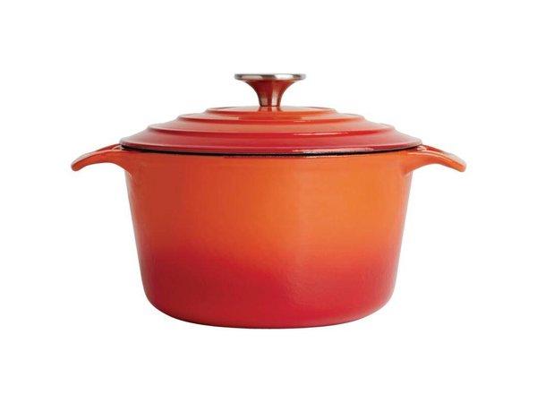 XXLselect Round casserole Orange - Ø 20 cm