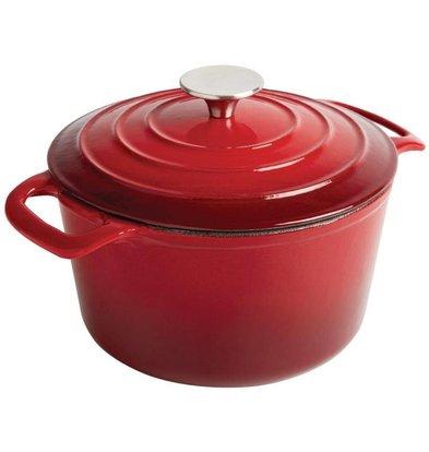 Vogue Round casserole Red - Ø 20 cm