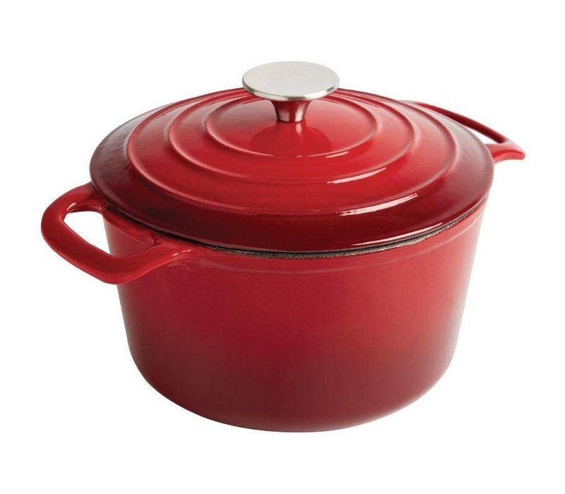 XXLselect Round casserole Red - Ø 20 cm