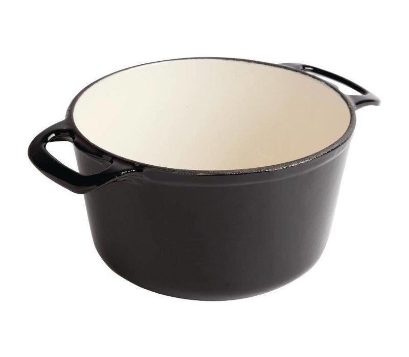 XXLselect Round casserole Black - Ø 20 cm