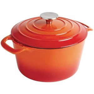 XXLselect Round casserole Orange - Ø 24 cm