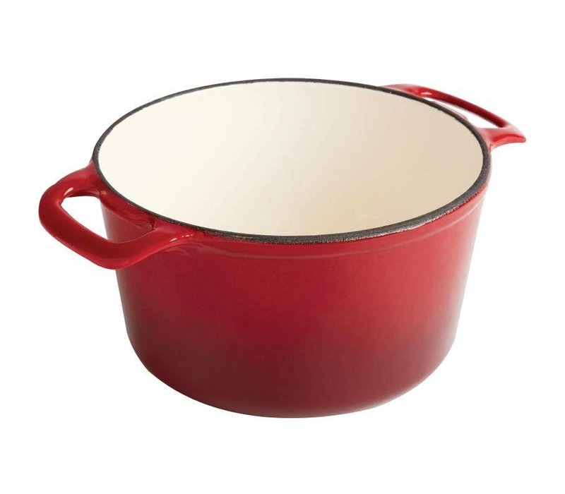 XXLselect Round casserole Red - Ø 24 cm