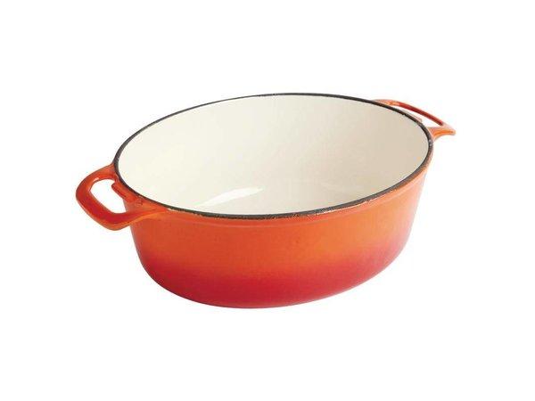 XXLselect Orange oval casserole - 30x25x (h) 11cm