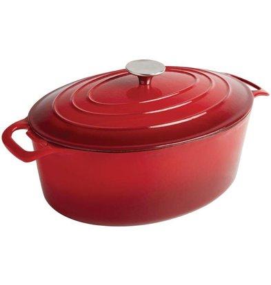 XXLselect Rote ovale Kasserolle - 30x25x (h) 11cm