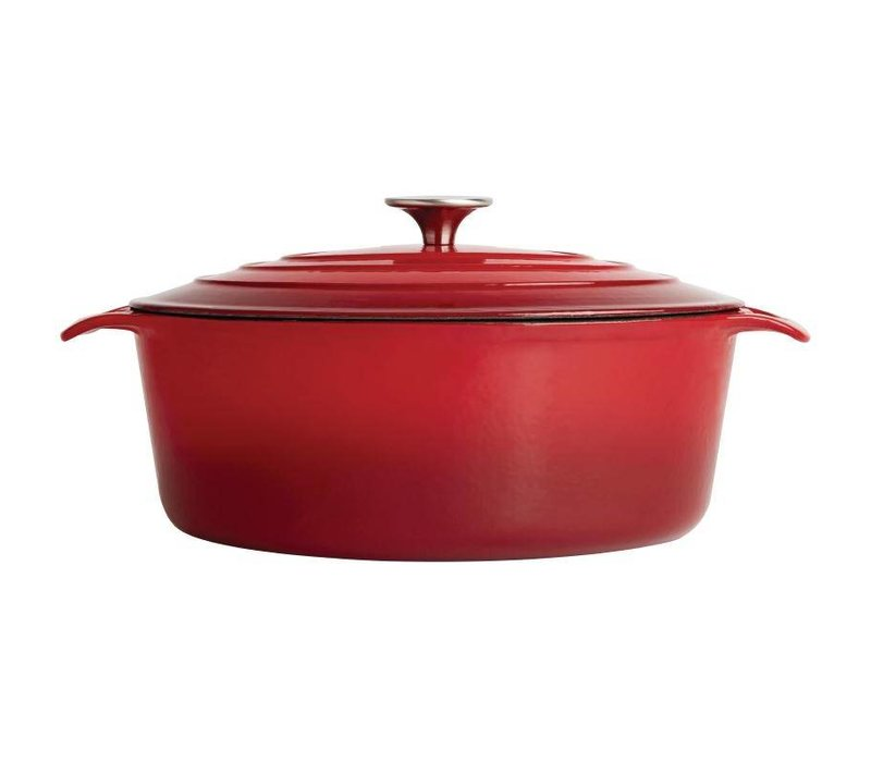 XXLselect Red oval casserole - 30x25x (h) 11cm